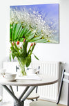 Nature Wall Art: Beautiful Blur Closeup Dandelion (Wood Frame Ready To Hang)