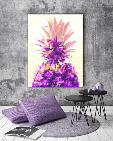 Pineapple Wall Art: Big Pineapple (Wood Frame Ready To Hang)