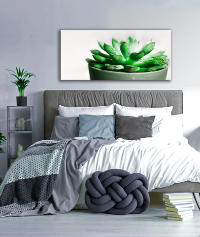 Plant Wall Art: Big Succulent (Wood Frame Ready To Hang)