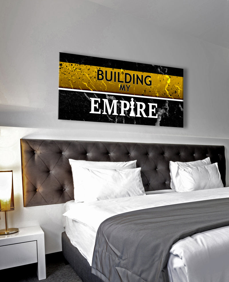 Inspire Wall Art: Building My Empire V2 (Wood Frame Ready To Hang)