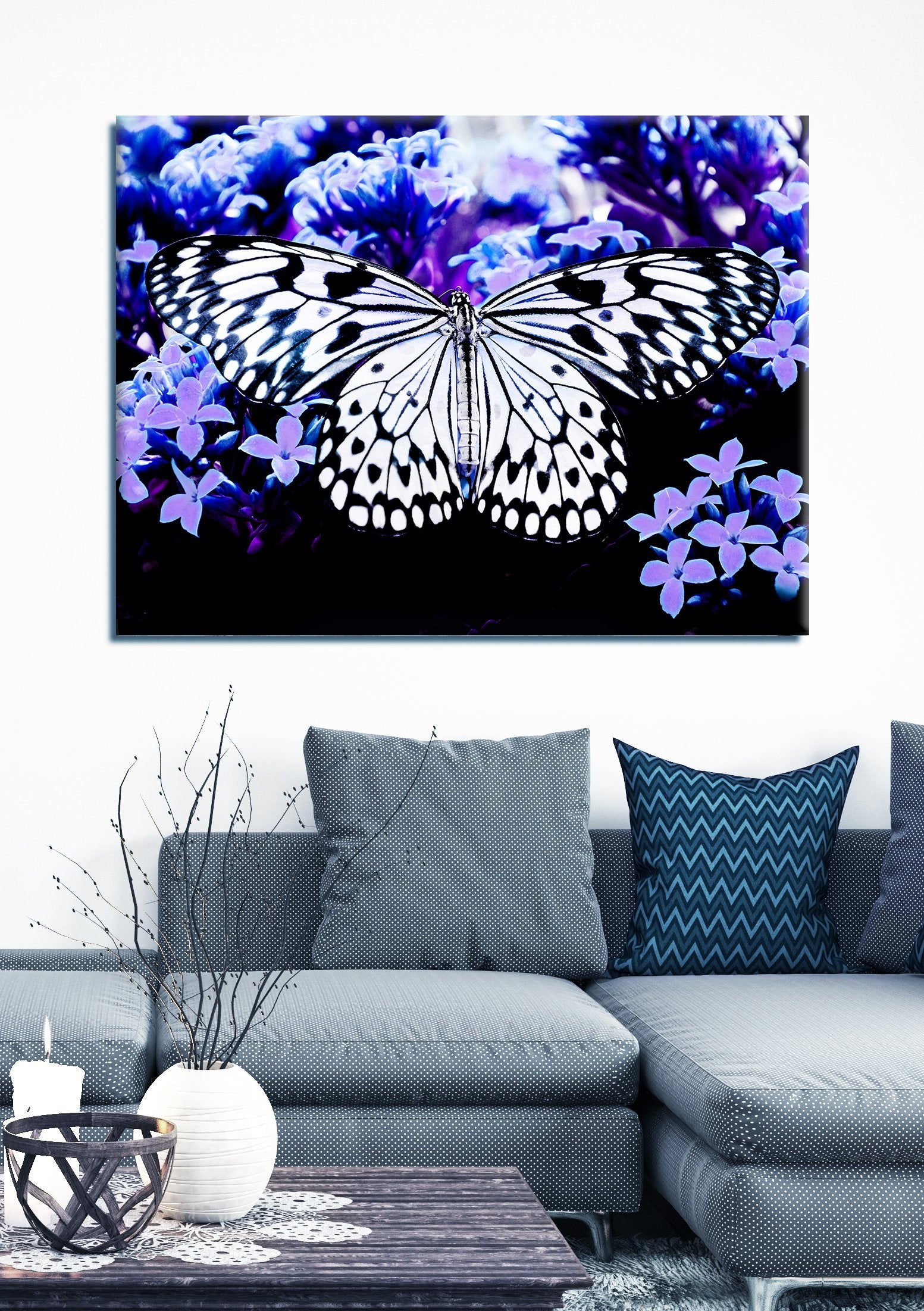 Insect Wall Art: Butterfly 4 (Wood Frame Ready To Hang)