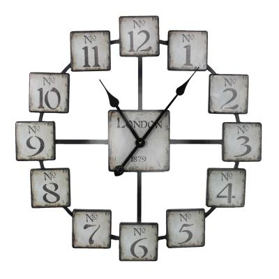 Wall Clock: Classic And Uniquely Designed Metal Wall Clock