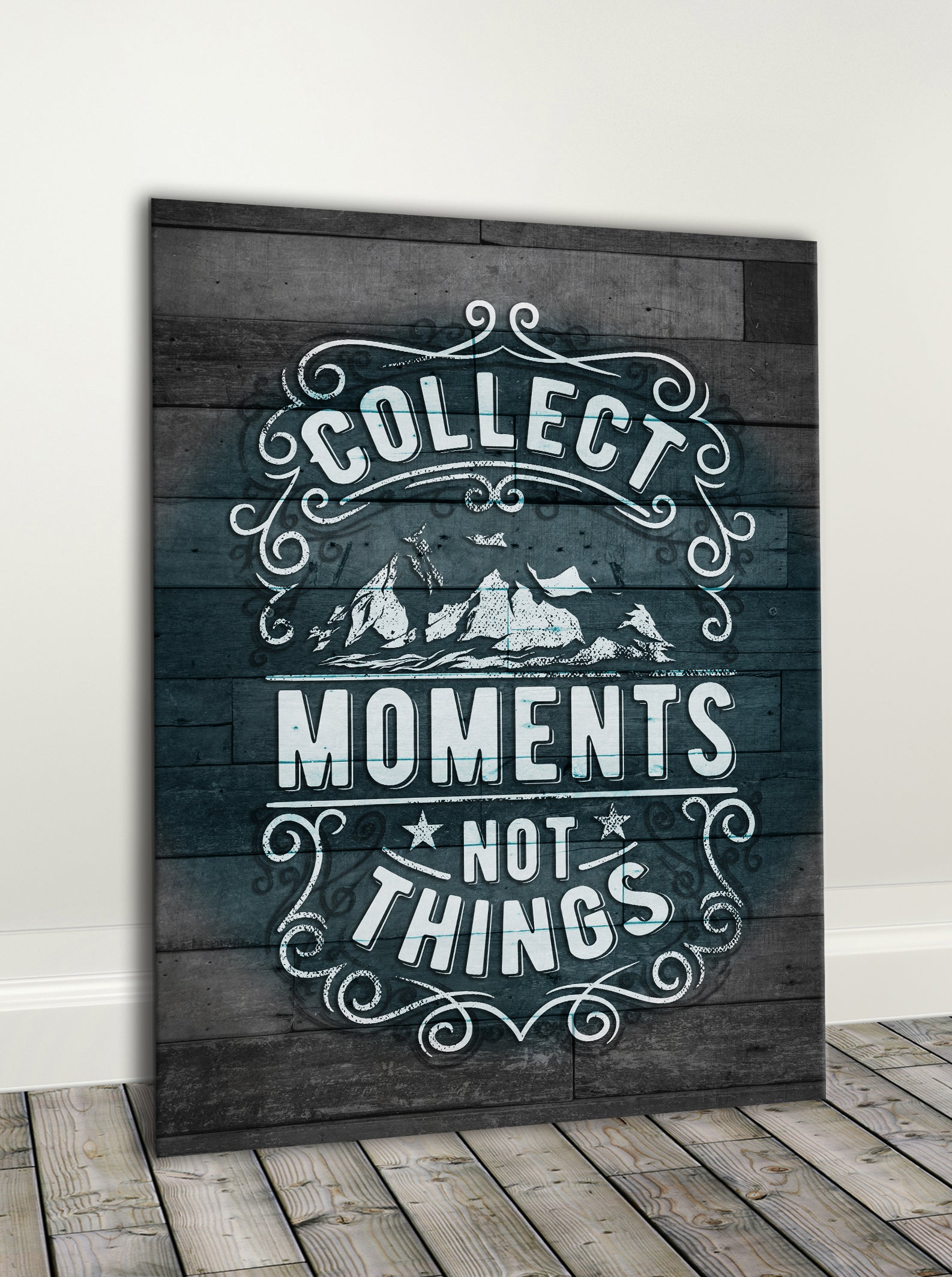Vintage Style Art: Collect Moments (Wood Frame Ready To Hang)