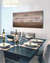 Home Decor Wall Art: Come Gather At Our Table (Wood Frame Ready To Hang)