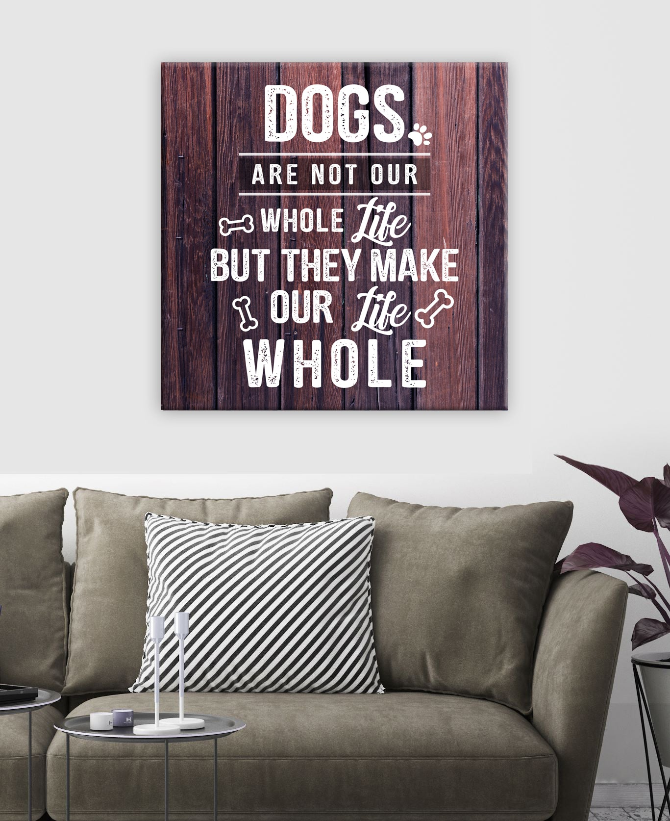 Pet Wall Art: Dogs Our Whole Life (Wood Frame Ready To Hang)