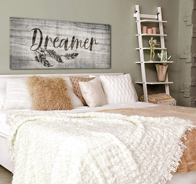 Bedroom Wall Art: Dreamer (Wood Frame Ready To Hang)