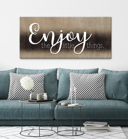 Couples Wall Art: Enjoy The Little Things (Wood Frame Ready To Hang)