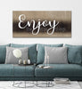 Image of Couples Wall Art: Enjoy The Little Things (Wood Frame Ready To Hang)