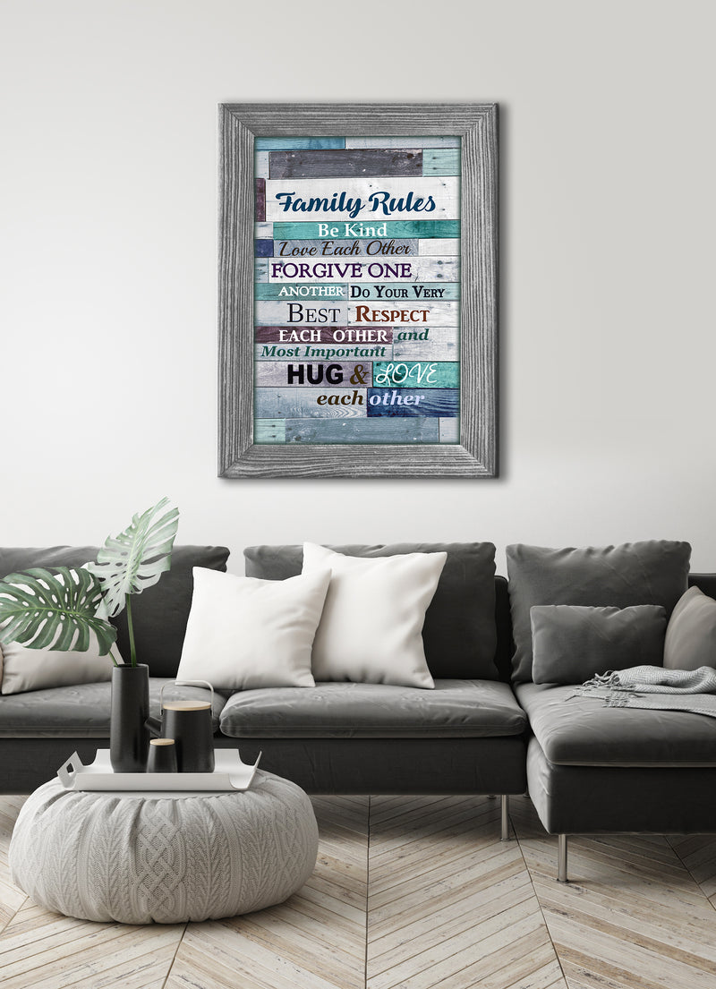 Home Wall Art: Sweet Family Saying (Wood Frame Ready to Hang)