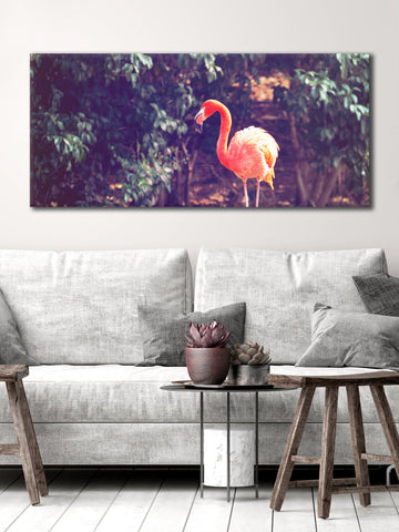 Bird Wall Art: Flamingo (Wood Frame Ready To Hang)