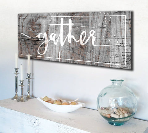 Kitchen Decor Wall Art: Gather Wall Art (Wood Frame Ready To Hang)