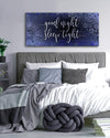 Couples Wall Art: Good Night Sleep (Wood Frame Ready To Hang)