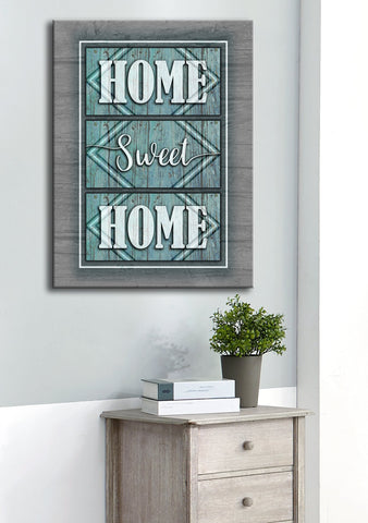 Home Decor Wall Art: HOME SWEET HOME (Wood Frame Ready To Hang)