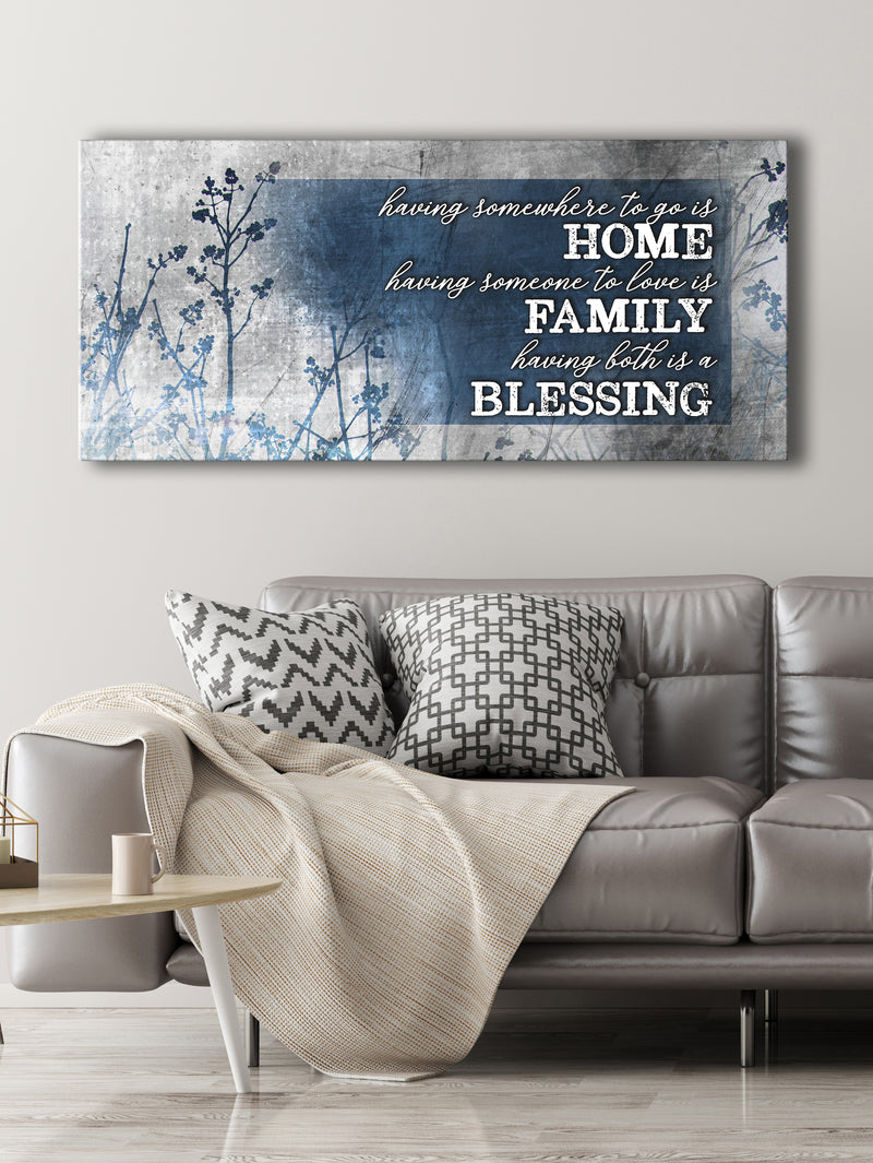 Christian Wall Art: Home Blessing Family (Wood Frame Ready To Hang)
