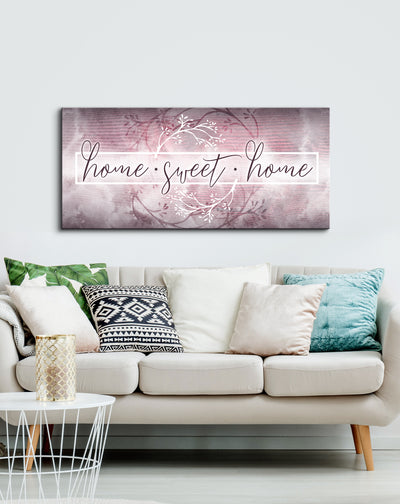 Home Wall Art: Home Sweet Home V2 (Wood Frame Ready To Hang)