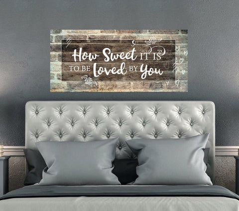 Bedroom Decor Wall Art: How Sweet (Wood Frame Ready To Hang)