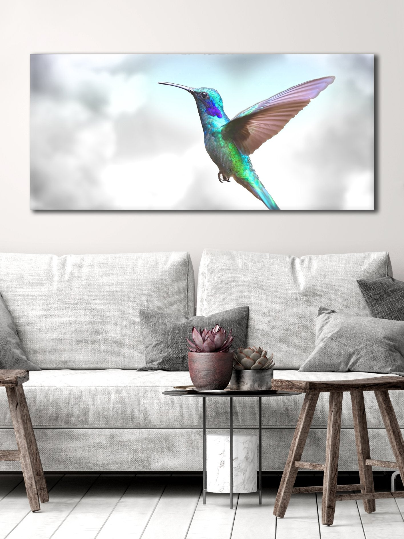 Bird Wall Art Humming Bird Wood Frame Ready To Hang