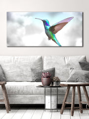 Bird Wall Art: Humming Bird (Wood Frame Ready To Hang)