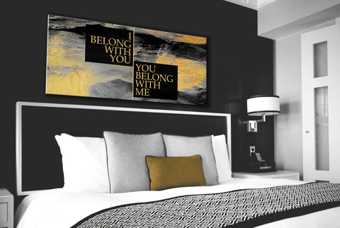 Bedroom Decor Wall Art: We Belong Together Wall Art (Wood Frame Ready To Hang)