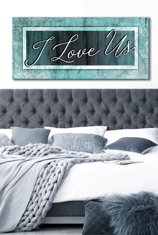 Couples Wall Art: I Love Us V3 (Wood Frame Ready To Hang)