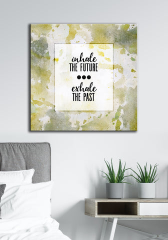 Powerful Women Wall Art: Inhale Future (Wood Frame Ready To Hang)