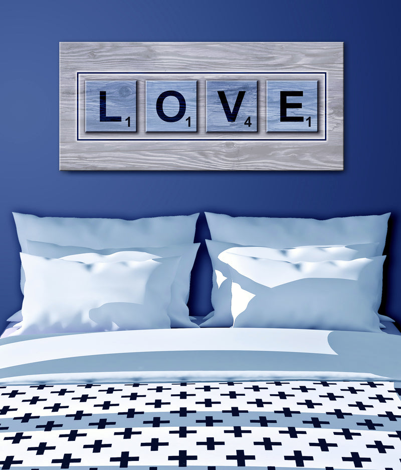 Bedroom Wall Art: Love Game (Wood Frame Ready To Hang)