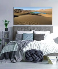 Landscape Decor Wall Art: Desert (Wood Frame Ready To Hang)