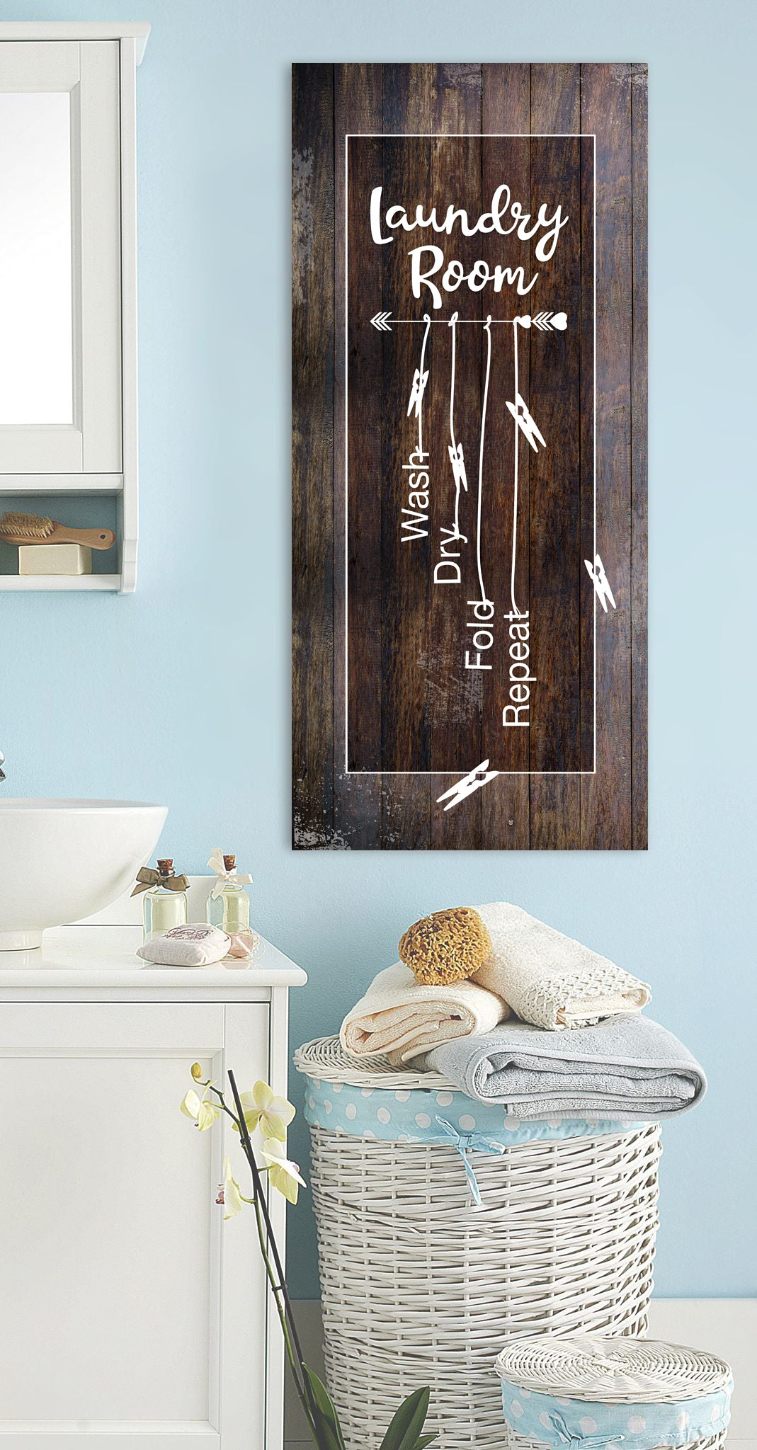 Laundry Room Wall Art: Laundry Room (Wood Frame Ready To Hang)