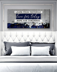 Inspire Wall Art: Learn From Yesterday (Wood Frame Ready To Hang)