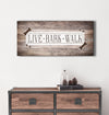 Pet Wall Art: Live Bark Walk (Wood Frame Ready To Hang)
