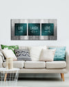 Bedroom Wall Art: Live Laugh Love Bedroom Large Wall Art 2 Sizes Available (Wood Frame Ready To Hang)