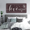 Image of Couples Wall Art: Love Always Protect (Wood Frame Ready To Hang)