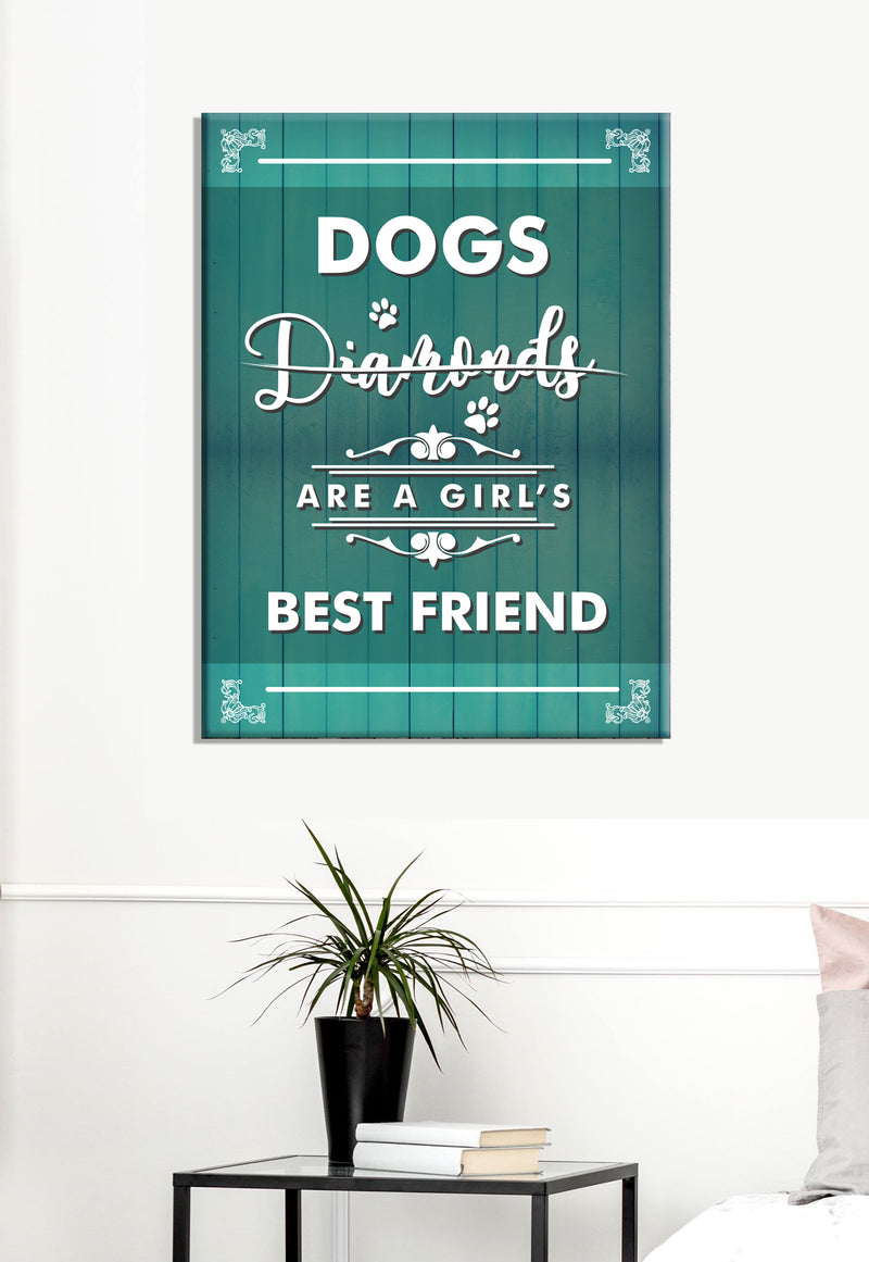 Pet Wall Art: Dogs Diamond (Wood Frame Ready To Hang)