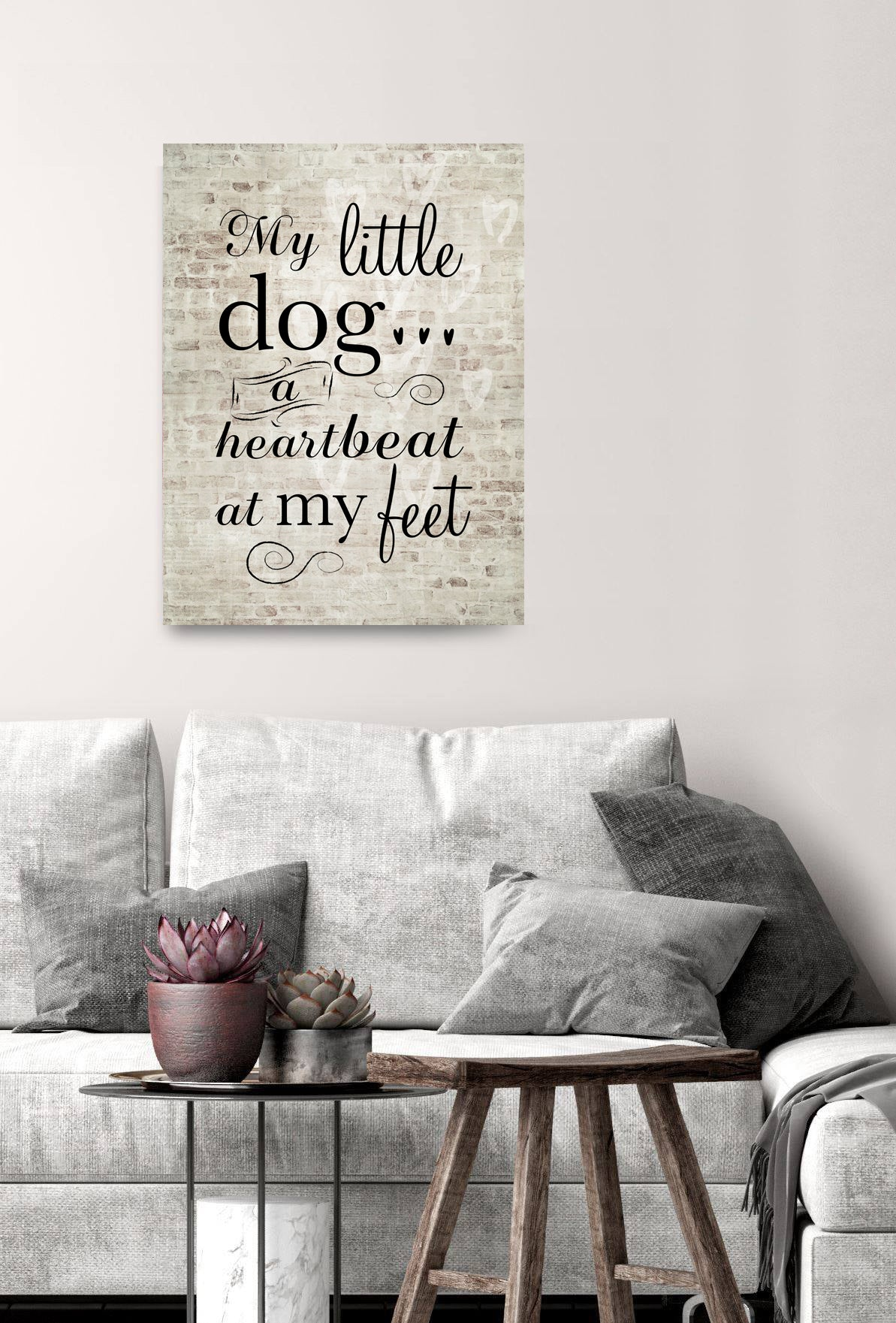 Pet Wall Art: My Little Dog... (Wood Frame Ready To Hang)