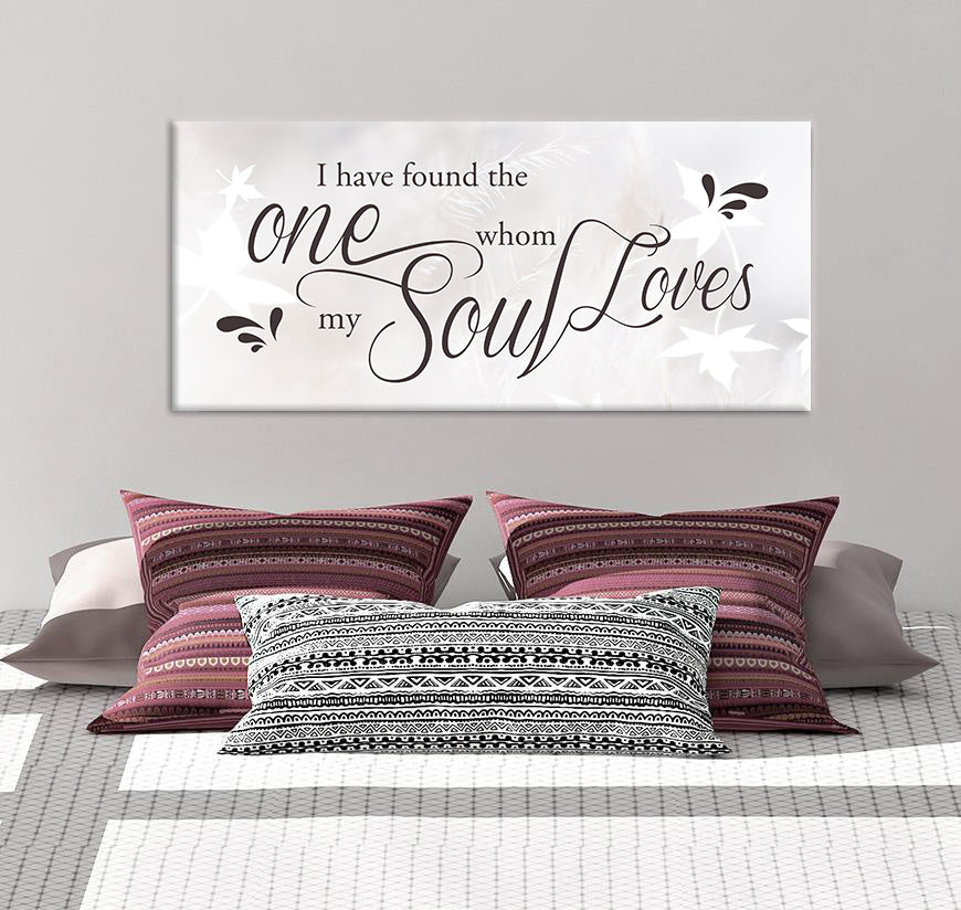 Couples Wall Art: My Soul Loves (Wood Frame Ready To Hang)