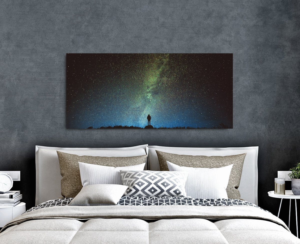 Nature Wall Art: Stargazing (Wood Frame Ready To Hang)