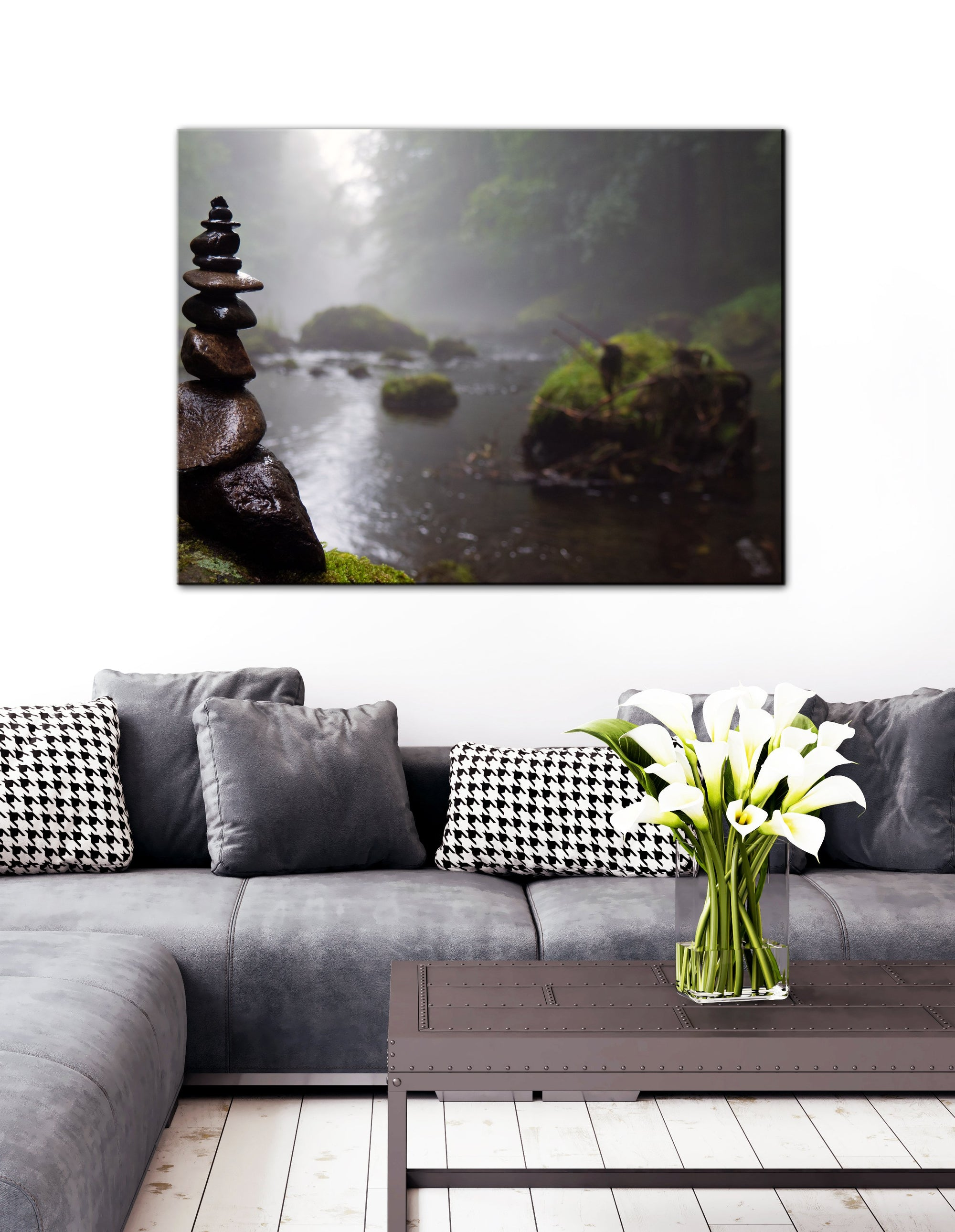 Nature Wall Art: Relaxing Rocks (Wood Frame Ready To Hang)