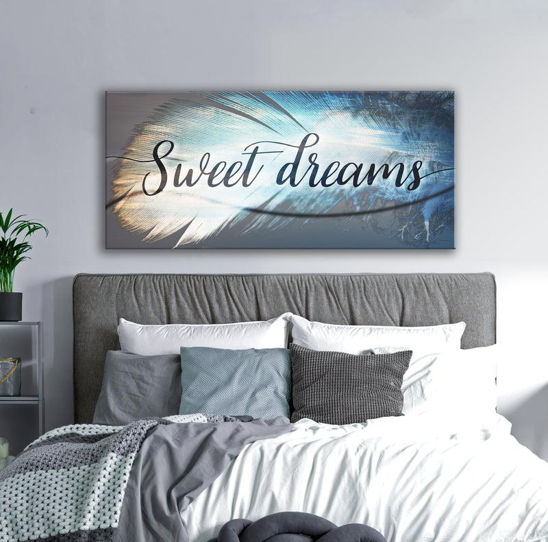 Feather Wall Art: Feather Sweet Dreams (Wood Frame Ready To Hang)