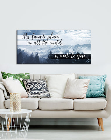 Bedroom Wall Art: Next To You Wall Art (Wood Frame Ready To Hang)