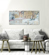 Paint Splash Wall Art: Pastel Color Splash Paint (Wood Frame Ready To Hang)
