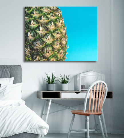 Pineapple Wall Art: Pineapple Fruit (Wood Frame Ready To Hang)