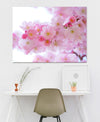 Flower Wall Art: Pink Blossoms (Wood Frame Ready To Hang)