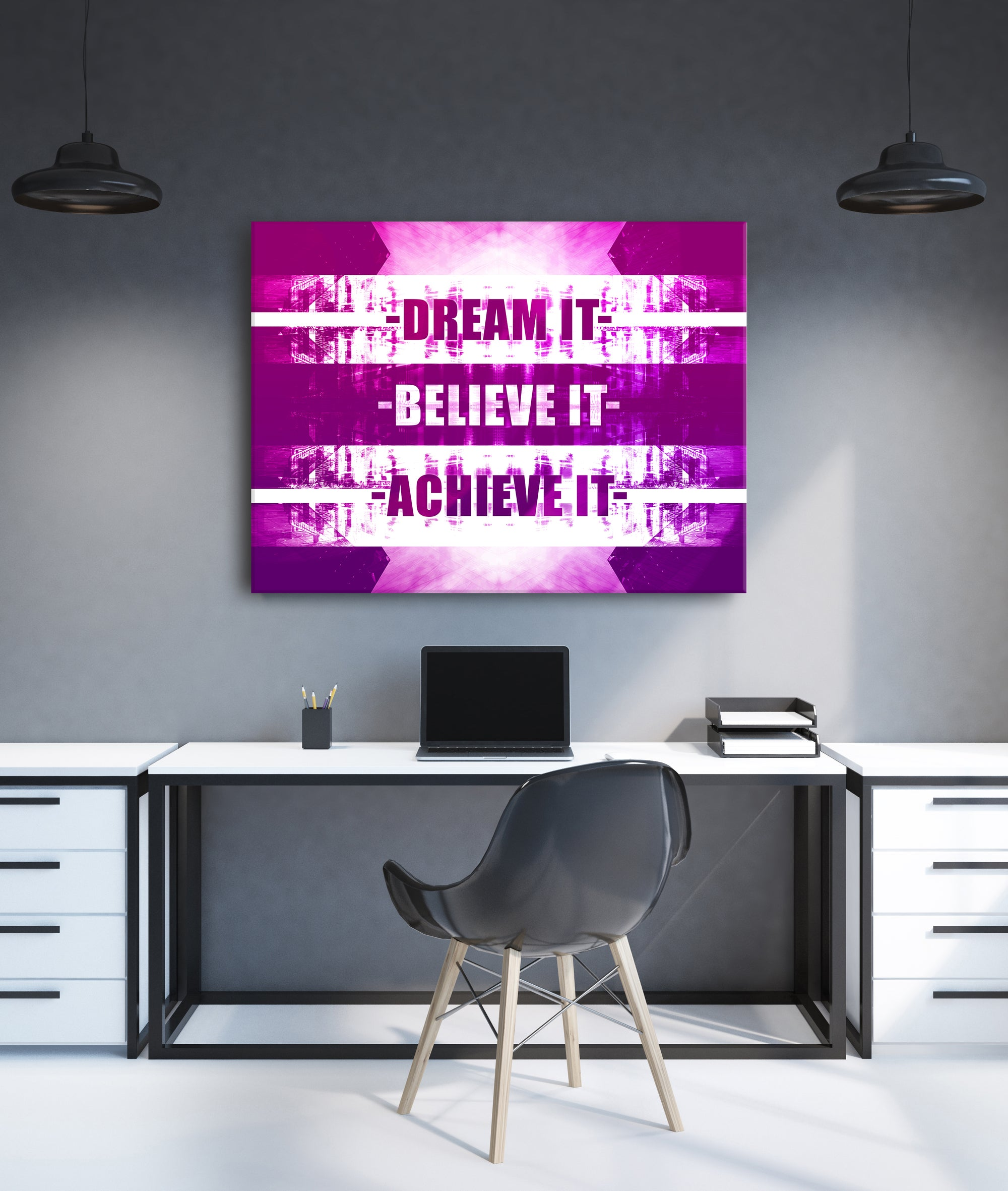 Powerful Women Wall Art: Dream It (Wood Frame Ready To Hang)
