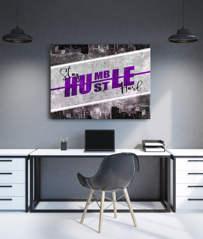 Powerful Women Wall Art: Stay Humble (Wood Frame Ready To Hang)