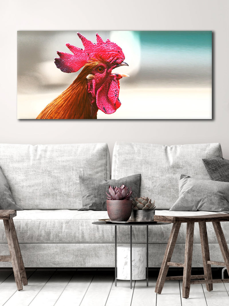 Bird Wall Art: Rooster (Wood Frame Ready To Hang)
