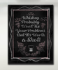 Image of Home Decor Wall Art: Whiskey Chalk Board Canvas Art Pink