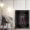 Home Wall Art: Beautiful Eiffel Tower Paris Canvas Wall Art Piece (Wood Frame Ready To Hang)