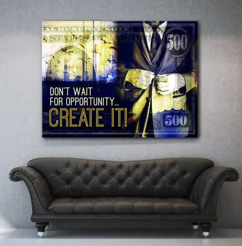 Business Wall Art: Create Your Future (Wood Frame Ready To Hang)