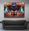 "Home Wall Art: Vegas Pro ""All In"" Canvas Art (Wood Frame Ready To Hang)"