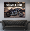 Home Wall Art: Ride It Out Motorcycle (Wood Frame Ready To Hang)